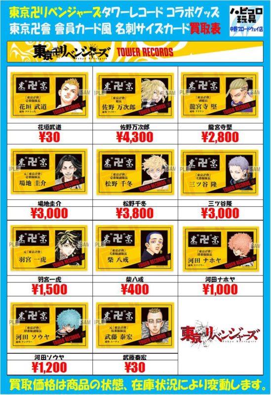 【悲報】東京卍リベンジャーズ、主人公のグッズ買取価格がヤバイ事になってしまうwwwwww